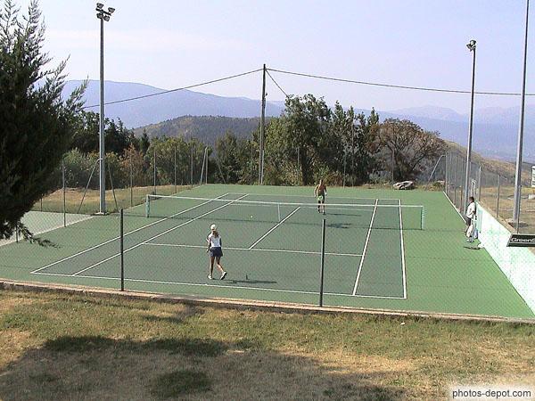 Terrain de tennis for Prix d un terrain de tennis