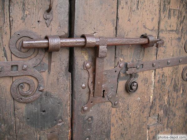 Serrure Et Fermeture De Porte De Fer Forgé - Fermeture de porte