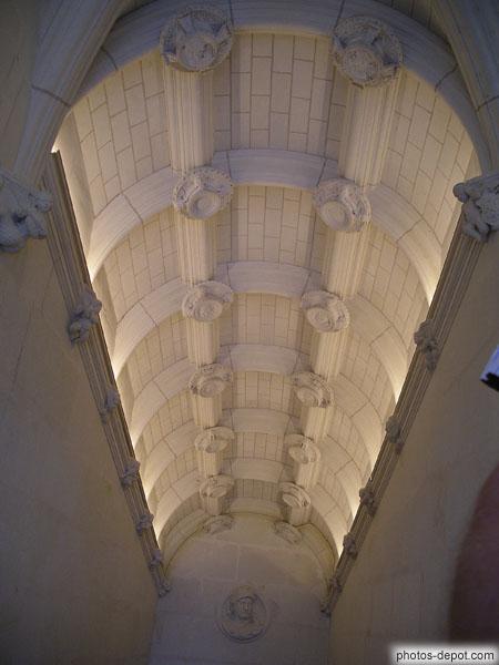 plafond rampant renaissance style italien de l 39 escalier. Black Bedroom Furniture Sets. Home Design Ideas