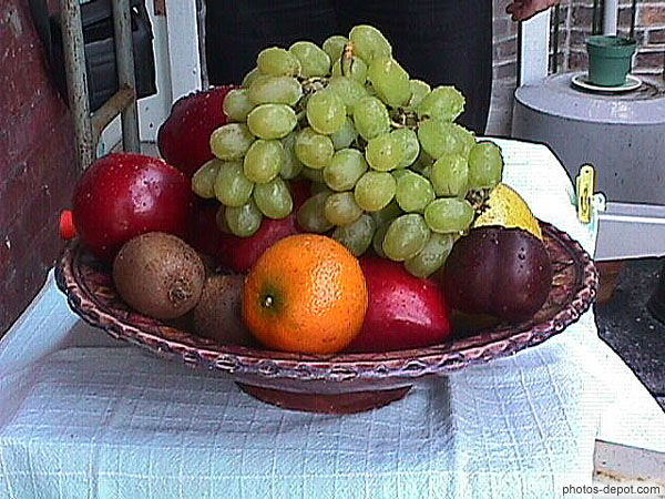 photo de corbeille de fruits