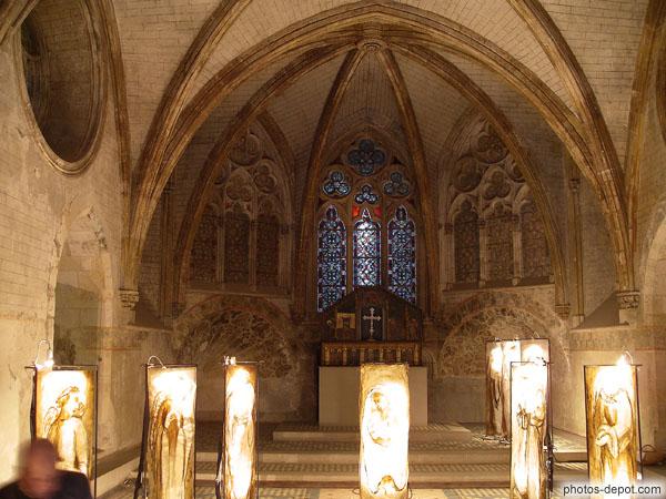 Coeur de la chapelle basse ste madeleine servant la reine - Palais des rois de majorque perpignan ...