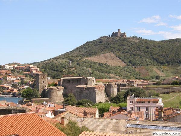 Ch teau de collioure fortifi par vauban et fort st elne sur la colline - Chateau de collioure ...