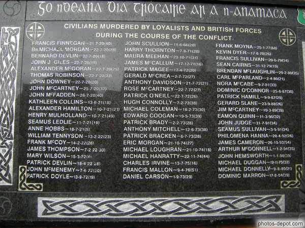 photo de Civilians murdered by loyalists