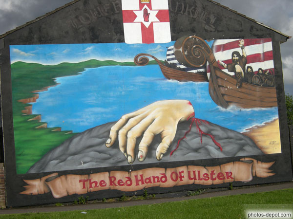 photo de The red hand of Ulster