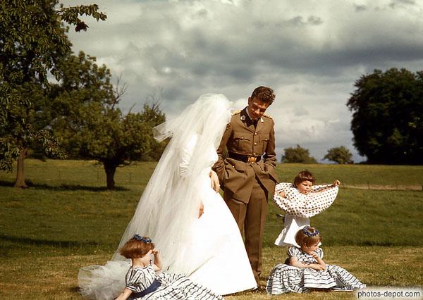 Photo de photo de mariage avec enfants